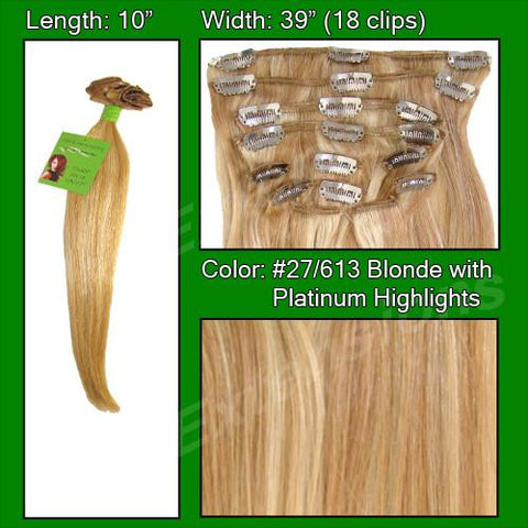 Pro-Extensions PRST-10-27613 #27/613 Golden Blonde w/ Platinum Highlights - 10 inch - Peazz.com