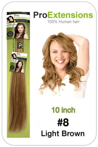Pro-Extensions PRST-10-8 #8 Light Brown - 10 inch - Peazz.com
