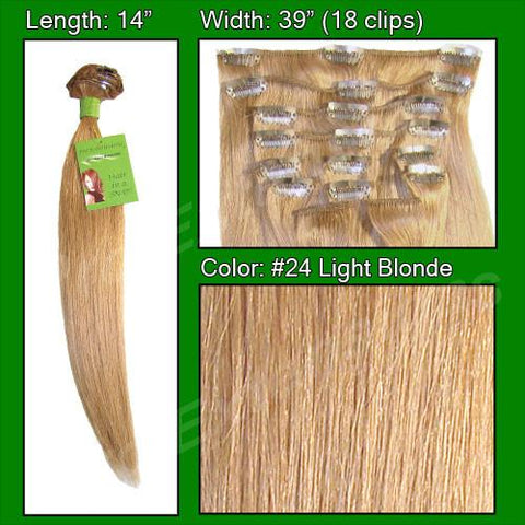 Pro-Extensions PRST-14-24 #24 Light Blonde - 14 inch - Peazz.com