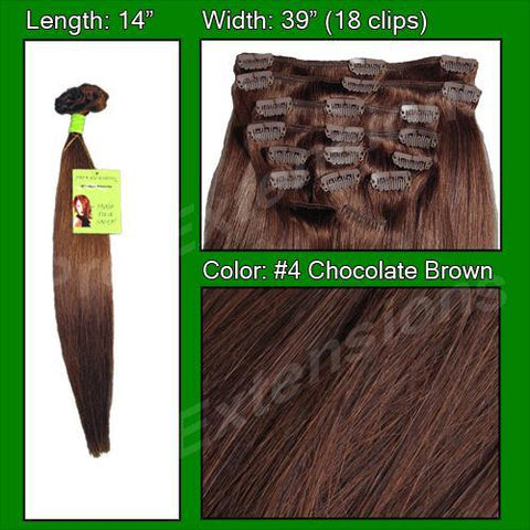 Pro-Extensions PRST-14-4 #4 Chocolate Brown - 14 inch - Peazz.com