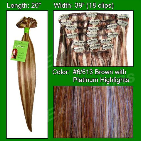 Pro-Extensions PRST-20-6613   #6/613 Chestnut Brown w/ Platinum Highlights - 20 inch - Peazz.com
