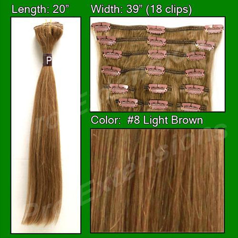 Pro-Extensions PRST-20-8   #8 Light Brown - 20 inch - Peazz.com
