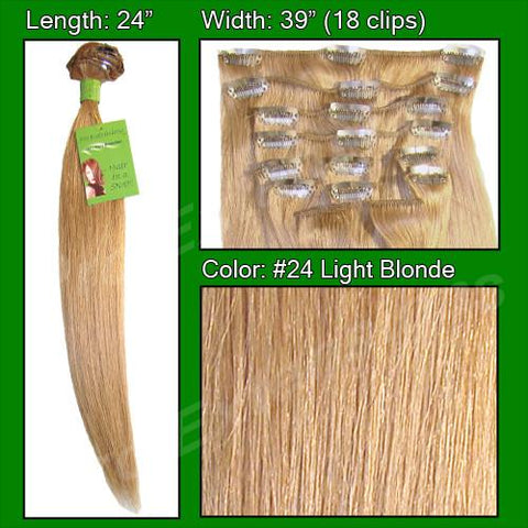 Pro-Extensions PRST-24-24   #24 Light Blonde - 24 inch - Peazz.com