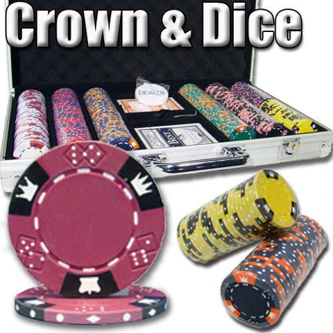 Brybelly PSC-0402 300 Ct - Pre-Packaged - Crown & Dice - Aluminum - Peazz.com