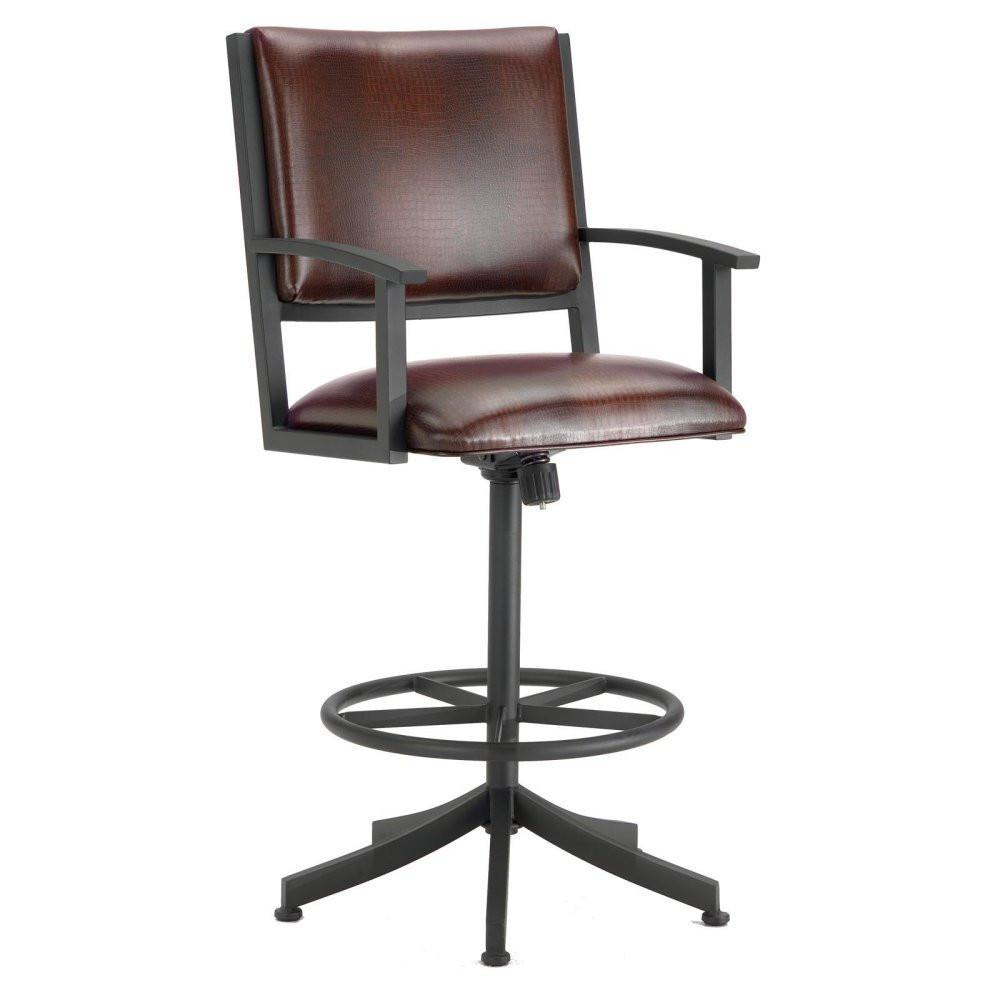 Alligator | Executive | Height | Swivel | Fabric | Finish | Stool | Brown | Black | Hill | Seat