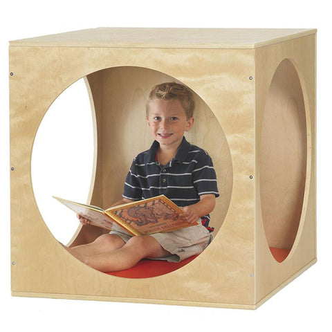ECR4Kids ELR-17506 Birch Playhouse Cube with Mat - Peazz.com