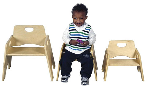 "ECR4Kids ELR-18005 6"" Stackable Wooden Toddler Chair - RTA - Set of 2 - Peazz.com"