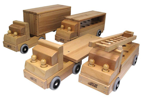 ECR4Kids ELR-19106 - Set of Four Transportation Vehicles - Peazz.com