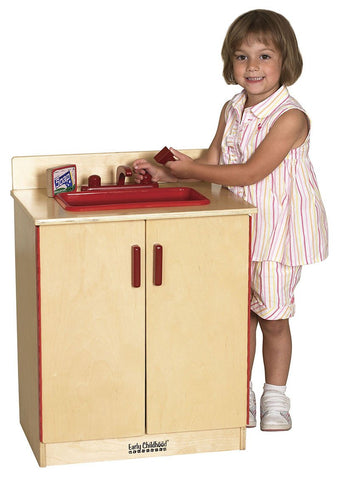 ECR4Kids ELR-0431 Birch Play Kitchen - Sink - Peazz.com
