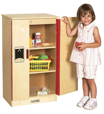 ECR4Kids ELR-0433 Birch Play Kitchen - Refrigerator - Peazz.com