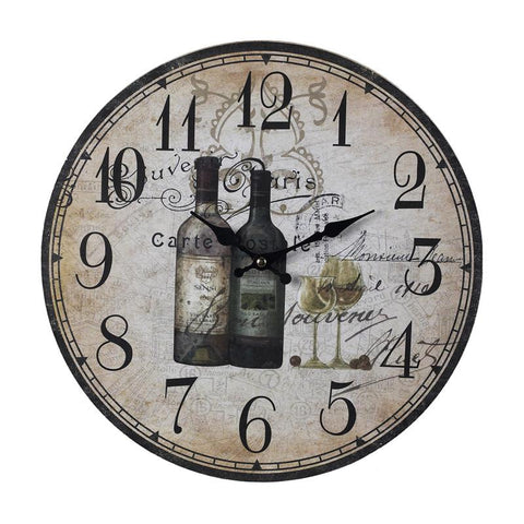 Sterling Industries 118-032 French Wine Bottles Clock - Peazz.com