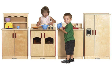 ECR4Kids ELR-0501 Birch 4 Piece Play Kitchen Set - Peazz.com