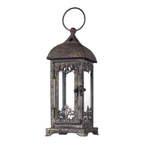Sterling Industries 128-1012 Distressed Finish Hurricane Lantern - Peazz.com