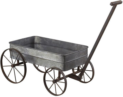 Sterling Industries 51-10016 Metal Cart Planter With Handle - Peazz.com