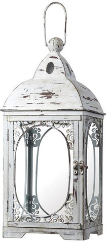 "Sterling Industries 51-10022 18"" White Hurricane Lantern - Peazz.com"