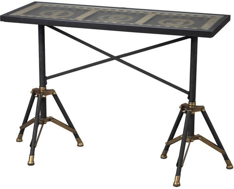 Sterling Industries 51-10030 Movie Reel Console Table - Peazz.com