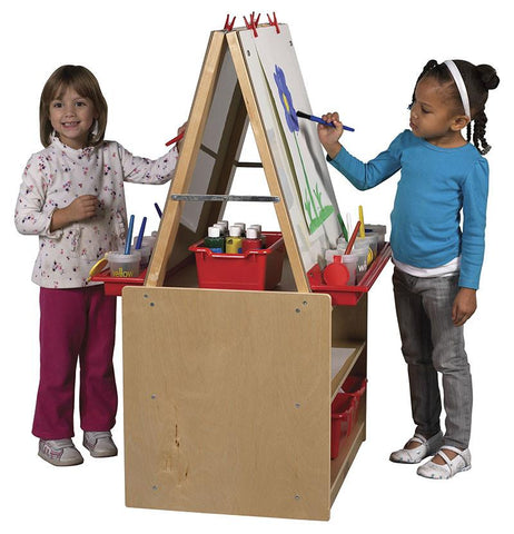 ECR4Kids ELR-0691 2 Station Art Easel with Storage - Peazz.com