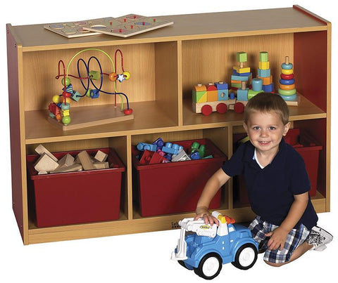 "ECR4Kids ELR-0712-RD CE 5 Compartment Storage Cabinet 30""H - RD - Peazz.com"