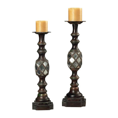 Sterling Industries 93-9229 Mirrored Candle Holders - Peazz.com
