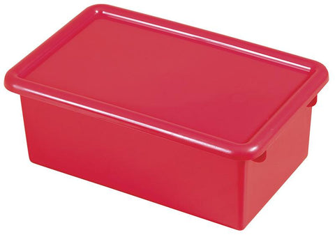 ECR4Kids ELR-0102-RD Stack & Store Tub with Lid - Red - Set of 12 - Peazz.com