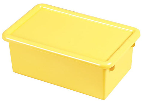 ECR4Kids ELR-0102-YE Stack & Store Tub with Lid - Yellow - Set of 12 - Peazz.com
