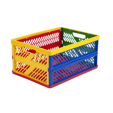 ECR4Kids ELR-0170 Large Vented Collapsible Crate - Set of 12 - Peazz.com