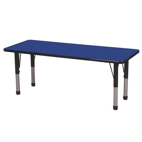 "ECR4Kids ELR-14108-BLBK-C 24x60"" Rect Table Blue/Black-Chunky - Peazz.com"