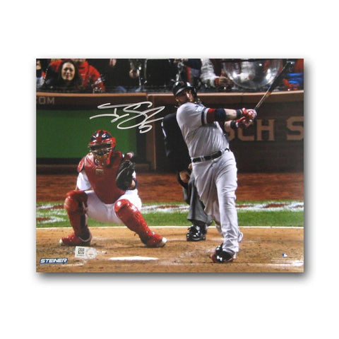 Autographed Jonny Gomes Swing 8x10 inch unframed 2013 World Series photo. - Peazz.com
