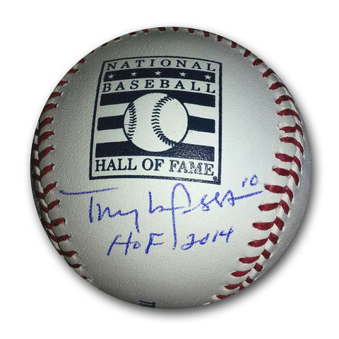 "Autographed Tony LaRussa Hall of Fame Logo Baseball inscribed ""HOF 14"" - Peazz.com"