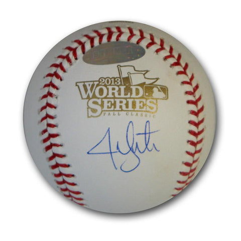 Jon Lester autographed 2013 World Series baseball. - Peazz.com