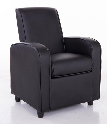 Mochi Furniture KR2021BK Comfortable KR2021BK Black PU Leather Kids Recliner - Peazz.com