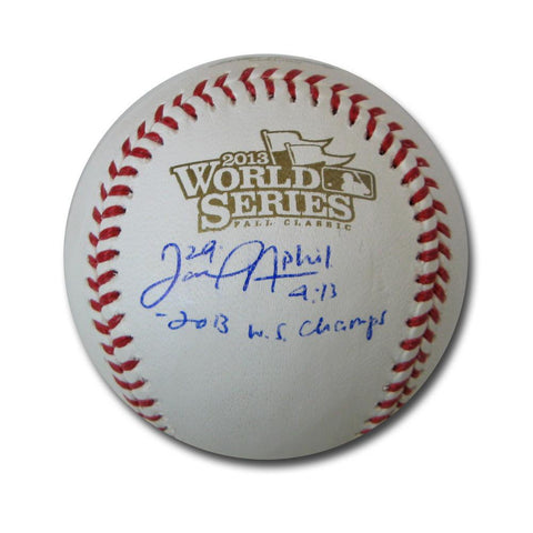 "Autographed Daniel Nava 2013 World Series baseball inscribed ""2013 World Series Champs"" - Peazz.com"