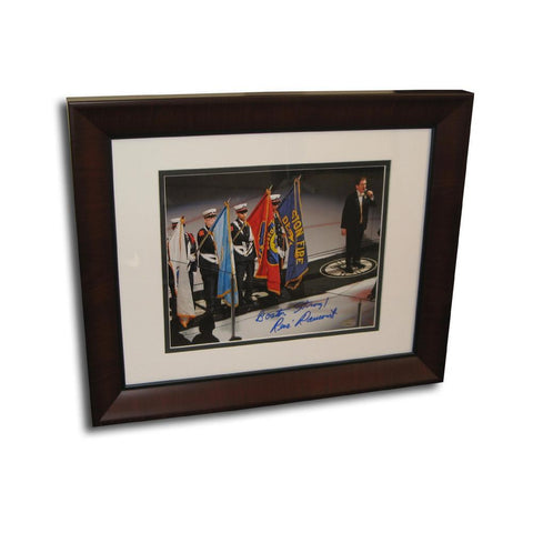 "Autographed Rene Rancourt 8X10 framed photo inscribed ""Boston Strong"". Sports Images is giving ALL the profits and more and this event - Peazz.com"