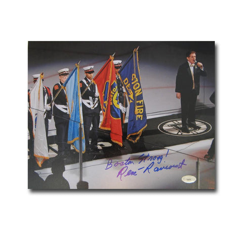 "Autographed Rene Rancourt 8x10 unframed photo inscribed ""Boston Strong"". Sports Images is giving ALL the profits and more and this even - Peazz.com"