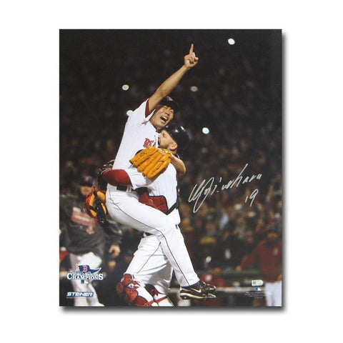 Autographed Koji Uehara 16x20 unframed 2013 World Series photo. - Peazz.com