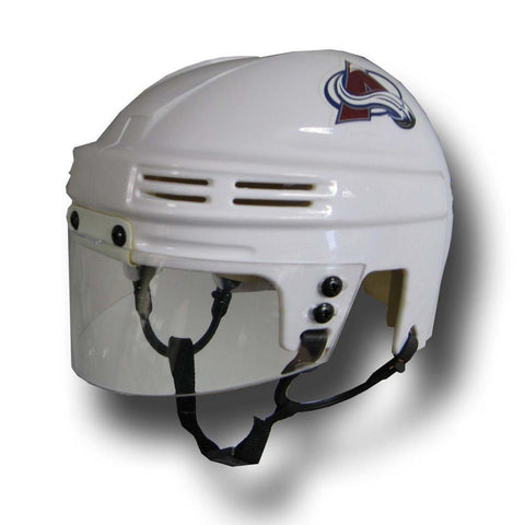 Official NHL Licensed Mini Player Helmets - Colorado Avalanche (White) - Peazz.com