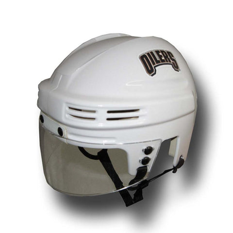 Official NHL Licensed Mini Player Helmets - Edmonton Oilers (White) - Peazz.com