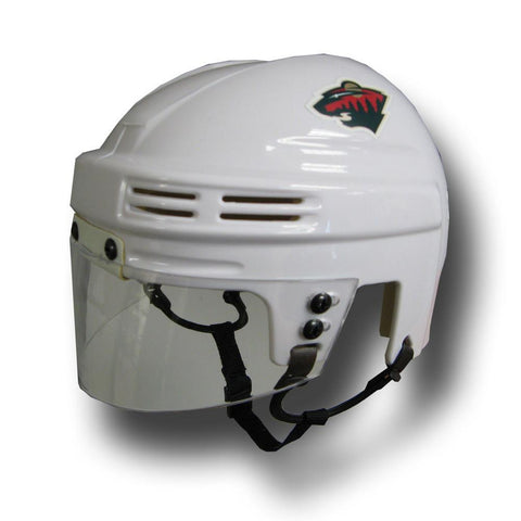 Official NHL Licensed Mini Player Helmets - Minnesota Wild (White) - Peazz.com