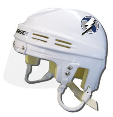 Official NHL Licensed Mini Player Helmets - Tampa Bay Lightning (White) - Peazz.com