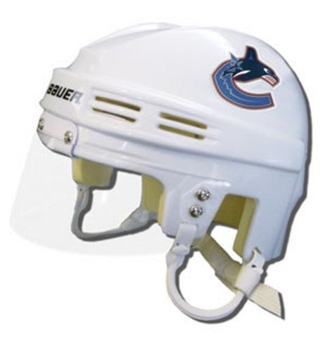 Official NHL Licensed Mini Player Helmets - Vancouver Canucks (White) - Peazz.com