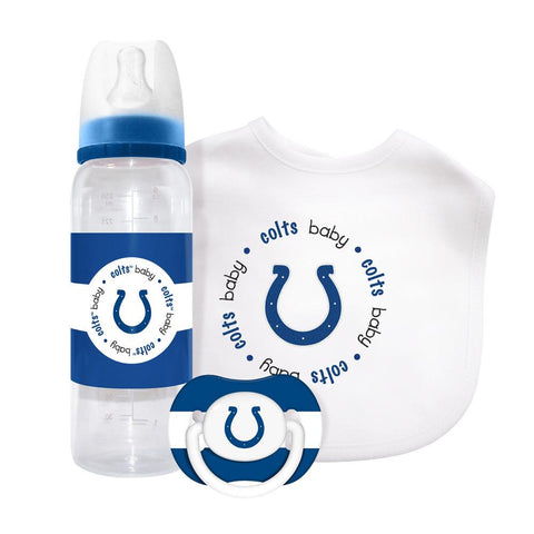 Baby Fanatic Gift Set (Bib, Pacifier And Bottle) - Indianapolis Colts - Peazz.com