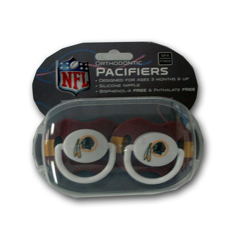 Baby Fanatic 2-Pack Pacifiers - Washington Redskins - Peazz.com