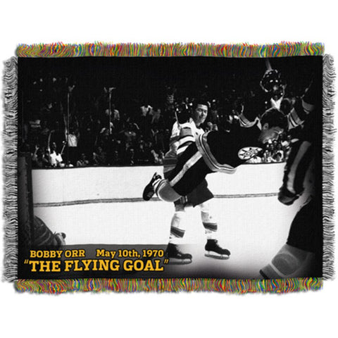 Tapestry Throw - Bobby Orr - Flying Goal - Peazz.com