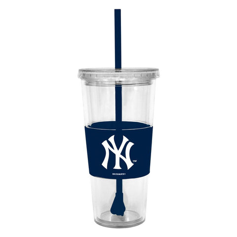 Lidded Cold Cup With Straw - New York Mets - Peazz.com