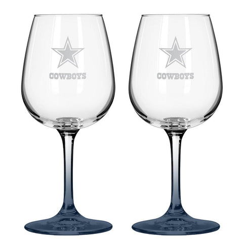 12Oz Nfl/Cowboys 2Pk Wine Set - Peazz.com