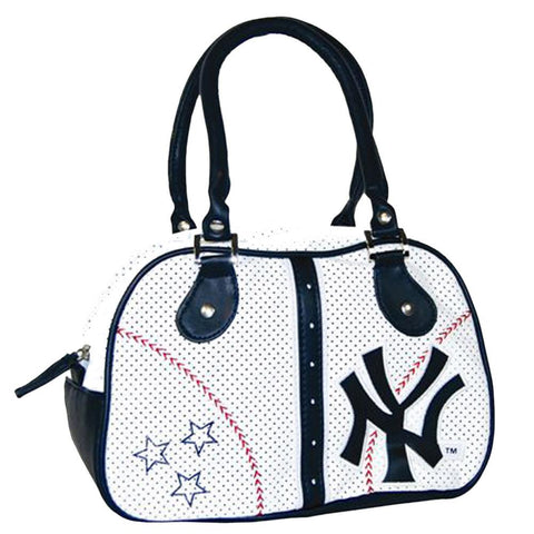 White Ethel Pebble Hand Bag New York Yankees - Peazz.com