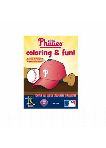 MLB Coloring Book - Philadelphia Phillies - Peazz.com