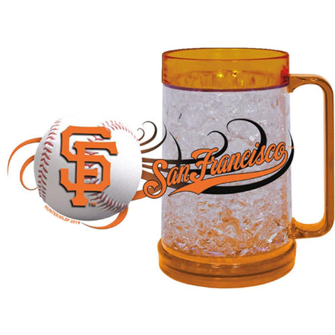 San Francisco Giants 16Oz Crystal Freezer Mug - Peazz.com
