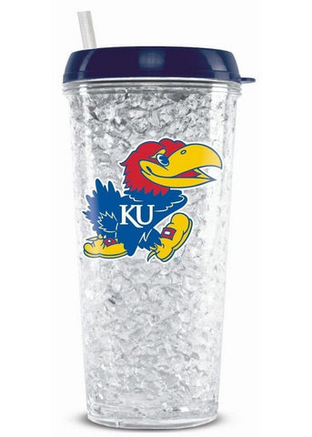 Tumbler With Straw Kansas Jayhawks - Peazz.com