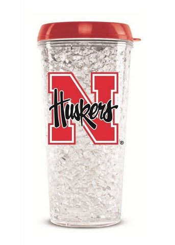 Tumbler With Straw Nebraska Cornhuskers - Peazz.com
